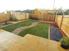 Garden Fence Decking Raised Beds Shed