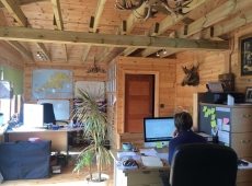 Timber Garden Office Interior