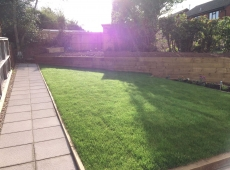 Turf Lawn Sleepers Pathway