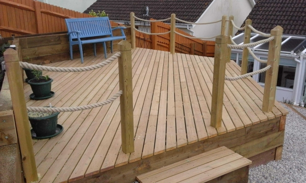 Decking Rope Balustrade After